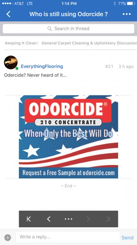 Who is still using Odorcide ? : Page 2 : TruckMount Forums ...