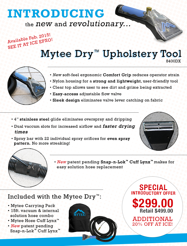 Introducing The New Mytee Dry Upholstery Tool Truckmount Forums